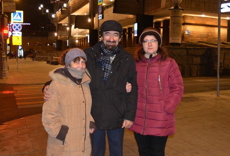 Слева направо: Галина Виноградова, Всеволод Гусейнов, Лариса Комракова