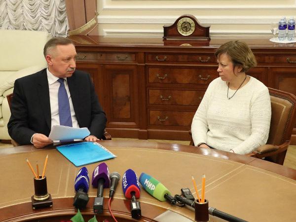Алла Андреева на личном приеме у губернатора Санкт-Петербурга Александра Беглова