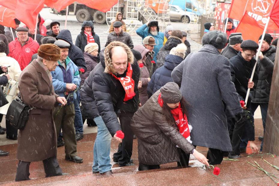Памятный митинг в Рязани в день смерти В.И. Ленина