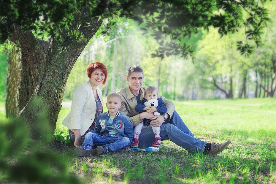 Анна Зверева с семьей